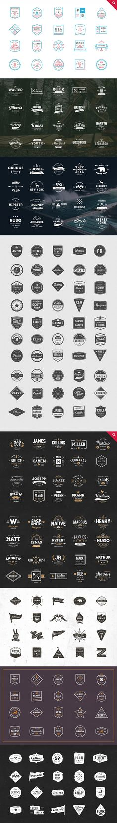 465 Logos Bundle - 90% off by vuuuds on @creativemarket