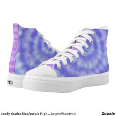 candy shades blue/purple High Top ZIPZ Shoes Printed Shoes