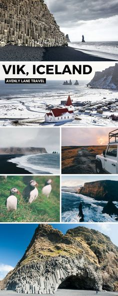Things to do and see in Vik Iceland! Visiting the black sand beach is at the top of the list. It was truly unlike anything I have every seen before. Whether you are traveling to Iceland in the winter or summer you will not want to miss a trip to Vik. | #avenlylanetravel #iceland