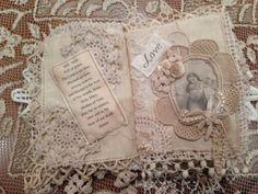 Vintage Mini Fabric Journal