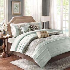 Bryant Blue Seven Piece King Comforter Set Madison Park Comforter Set Comforter Sets Beddi