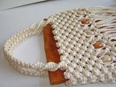 Purses/Handbags – Page 2 – This Year's Dozen Macrame Bracelet Tutorial, Macrame Bracelets, Macrame Bag, Macrame Knots, Baby Girl Crochet, Types Of Bag, Purses And Handbags, Crochet Hats, Textiles