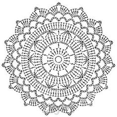 New crochet granny square circle beautiful Ideas Crochet Doily Rug, Crochet Doily Diagram, Crochet Mandala Pattern, Crochet Circles, Crochet Snowflakes, Crochet Doily Patterns, Crochet Round, Crochet Squares, Crochet Chart
