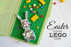 This travel LEGO case is the perfect Easter gift for LEGO lovers who are on the go! It's also inexpensive and easy to make. Add a LEGO bunny rabbit and you've got the perfect sugar free Easter treat