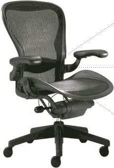 Aeron Cobalt Fully Loaded Chair By Herman Miller By Herman Miller 574 99 Aeron Cobalt Fully Loaded Chair B Chair Recording Studio Furniture Home Office Chairs