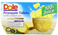 Dole Pineapple Tidbits in Juice, 4-Ounce Packages (Pack of 24)