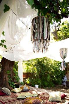 A chill relaxing spot in your backyard?  I love it. My own yoga retreat!