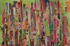 """Collage abstrait """"Fragments colorés"""" - Marie Felba"""