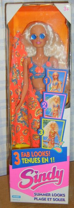 HASBRO 1995 SUMMER LOOKS SINDY DOLL NRFB 18+4.3