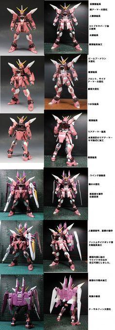 1/100 Justice Gundam remodeled by kazu462384. PHOTO REVIEW, WIP | GUNJAP