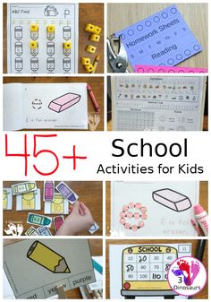 45+ School Themed Printables & Articles - a fun collection of printables, activities and articles that include printable packs, ABCs, numbers, math and more - 3Dinosaurs.com #backtoschool #schoolhelps #3dinosaurs #schoolactivities #schoolprintables Educational Activities For Kids, Kids Learning, Reading Activities, Early Learning, School Themes, School Fun, Bullying Articles, Abc Cards, School Calendar