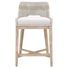 Shop the Theodore Modern Classic Grey Woven Cushion Solid Teak Outdoor Counter Stool and other Outdoor Bar Counter Stools at Kathy Kuo Home Grey Tapestry, Counter Bar Stools, Kitchen Stools, Kitchen Island, Island Stools, Woven Bar Stools, Kitchen Tables, White Flats, Kitchen Furniture