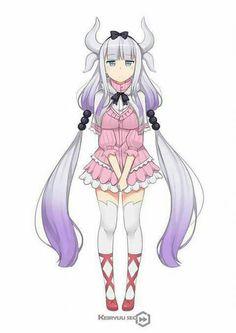 Kobayashi san chi no maid dragon Manga Girl, Manga Anime, Fanarts Anime, Anime Demon, Anime Art Girl, Dragon Girl, Miss Kobayashi's Dragon Maid, Maid Dragon Kanna, Kawaii Girl