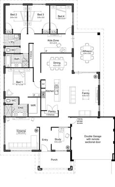 Architecture Home Kits Cabin Plans Floor Plan Pool House Garage Guest New Open Modular Homes