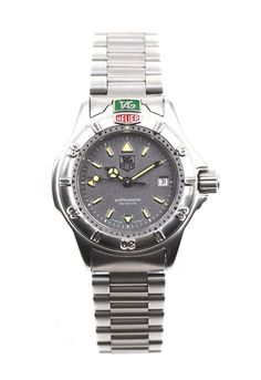 7b0bf4cd6fb Ladies tag heuer professional wristwatch wf14110 grey dial stainless box  tags