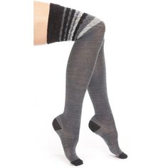 e8fcc73c9 SmartWool Chevron Stripe Over the Knee Socks ( 17) ❤ liked on Polyvore  featuring intimates