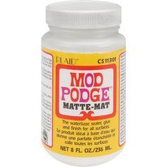Wat is Mod Podge. Mod Podge is een lijm die o.a. gebruikt wordt bij de servettechniek. Als Mod Podge met tenminste 12 lagen over een plaatje wordt