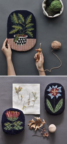 Punch needle embroidery by Bookhou