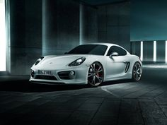 Porsche Cayman, white sports car wallpaper