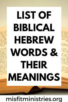 Bible Study Notebook, Bible Study Tips, Bible Study Journal, Scripture Study, Bible Lessons, Biblical Hebrew, Hebrew Words, Bible Scriptures, Bible Teachings