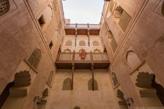 Oman Travel - An inner courtyard at Jabreen Castle