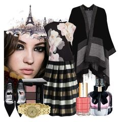 """""""Fall in Paris"""" by fablygent ❤ liked on Polyvore featuring Chicwish, Ted Baker, Yves Saint Laurent, L'Oréal Paris and Chaumet"""