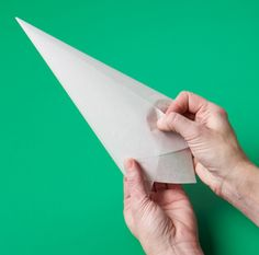 How to make a parchment pastry cone (Julia M. Usher).