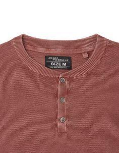 Herren Pullover mit kurzer Knopfleiste
