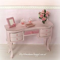 shabby chic furniture . Scale 1.12. €18.00, via Etsy.