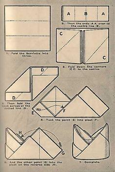 Napkin Folding Techniques | Victorian Napkin Folding Techniques And Ideas