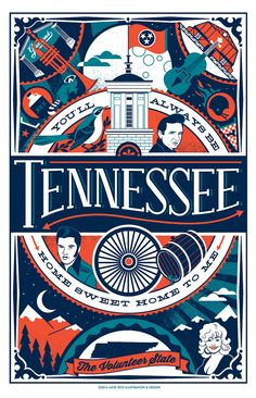 Tennessee poster by LucieRicePrints on Etsy