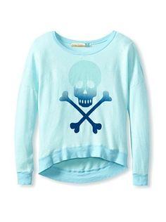 50% OFF Vintage Havana Girl's Ombre Skull & Bones Sweatshirt
