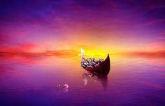 Krásné, Sny, Jezero, Člun, Příroda
