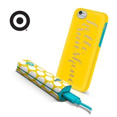 what makes a sunny day? we think a fully charged battery is a good start! ensure you never lose touch, no matter where you are, with our new hello sunshine iphone case and power bank set, available now at Target Style! ‪