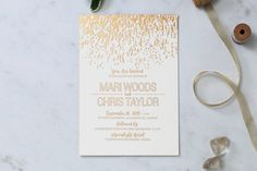 Luxe Meets Rustic Foil Wedding Stationery Navy
