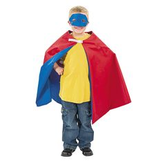 Personalized Boy's Superhero Cape & Mask - OrientalTrading.com