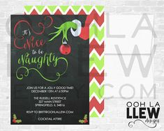 Grinch Holiday Party Invitation