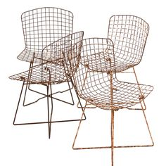 """vintage bertoia side chair with rare """"x"""" base"""