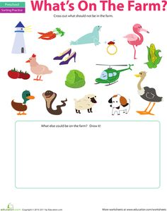 Worksheets: Sorting Activity: What Doesn't Belong? This helps a child ...