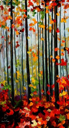 Leonid Afremov: Falling Leafs In The Forest