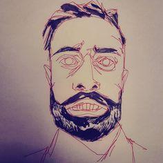 """#sketch #drawing #portrait of #Reddit user """"hi7en"""" ...#redditartistnetwork #beard #artistsofreddit #desenho"""