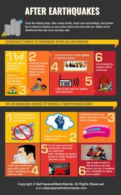 Earthquake Preparation, Emergency Preparation, Survival Life Hacks, Survival Prepping, Fire Safety Poster, Earthquake Safety, First Aid Tips, Emergency Management, Disaster Preparedness