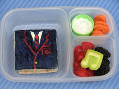 Bento for Kidlet: Glee: Dalton Academy Warblers Bento Lunch  This mom is the mom I wanna be!