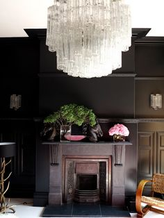 thedecorista:  my dream fireplace. in farrow & ball via 47parkave