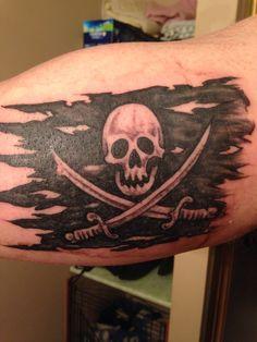 tattered flag tattoo