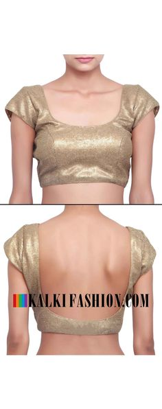 Buy online at: http://www.kalkifashion.com/blouse-featuring-in-copper-sequence-only-on-kalki.html Free shipping worldwide.