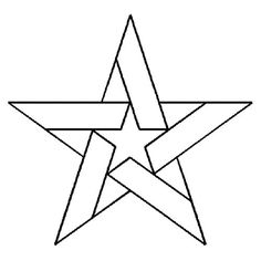 """6.5"""" Five Pointed Star Quilting Stencil by QCI - MB95"""