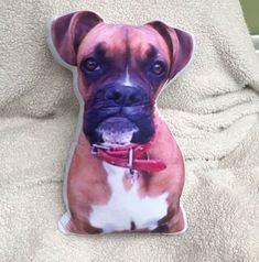 "Haustier Fotodruck Kissen ""Plüsch-Tier"" Pitbulls, 3d, Animals, Shopping, Pictures, Photo Pillows, Pets, Handarbeit, Gifts"