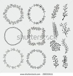Collection of Black Artistic Hand Sketched Decorative Doodle Borders and Frames Floral Design Elements Hand Drawn Vector Illustration Pattern Brashes - Shutterstock