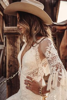 A sneak peak at the brand new modern and romantic boho wedding dress collections, Moonrise Canyon from Rue De Seine available exclusivley at our bridal shops. Western Wedding Dresses, Bohemian Wedding Dresses, Boho Dress, Bridal Dresses, Wedding Gowns, Bohemian Weddings, Maxi Dresses, Fringe Wedding Dress, Lace Wedding